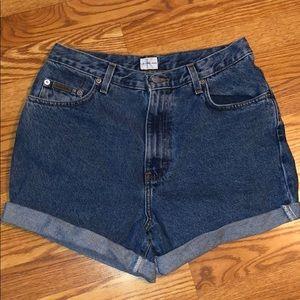 Vintage Calvin Klein cut-off shorts